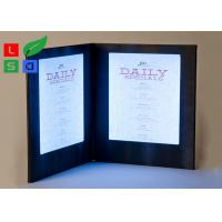 Customized Made LED Shop Display Stain Resistant For Restaurant Menu Display