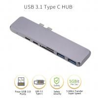 Buy cheap Type C Hub Dual USB-C HUBs /Card Reader Special for Apple Macbook Pro with Thunderbolt 3 up to 40GB/s Data transfer from wholesalers