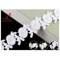 Buy cheap Embroidered Flower Guipure White Cotton Lace Ribbon For Fashion Clothes from wholesalers