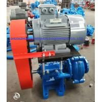 Buy cheap 3 / 2 C Ahr Rubber Lined Slurry Pumps Siemens Electric Motor Connected By Belts & Pulleys from wholesalers