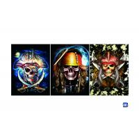 Wholesale Flip Lenticular 3D Posters With Skull Designs / Lenticular Photo Printing from china suppliers