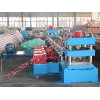 Buy cheap Speedway Guard Rail Sheet Metal Roll Former Roll Forming Line With Mitsubishi PLC Control from wholesalers