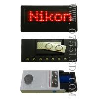Buy cheap LED programmable badge,LED name card,Red,90*34*8mm,LED mini tag from wholesalers