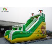 Buy cheap Yellow / Green Coconut Tree Blow Up Dry Slide Cold - Resistant And Durable from wholesalers
