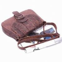 Buy cheap Retro Trendy Handmade Leather Handbags Lady Cross-Body Bag For Dating from wholesalers