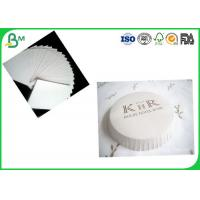 Buy cheap SGS Certification 350g White Uncoated Woodfree Paper / Absorbent Cardboard Paper For Cooling Pads Production from wholesalers