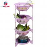 Buy cheap plastic basket detachable shelf fruit and vegetable home goods shelf storage shelves kitchen organizer rack from wholesalers