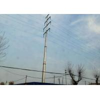 Buy cheap Galvanized Steel Transmission Pole , Durable High Strength Steel Tubular Pole from wholesalers