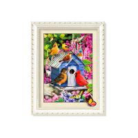 Buy cheap Factory Supplied 30x40cm 5D Pictures With Plastic White Frame For Office from wholesalers