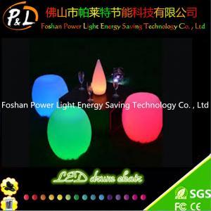 Illuminated LED Furniture Glowing Plastic LED Bar Stool Manufactures