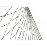 Buy cheap Woven Type Stainless Steel Cable Mesh Fence For Zoo Enclosure And Animal Cages product