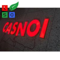 Buy cheap Illuminated Letters Stainless Structure Light Up Red Sign Letters from wholesalers