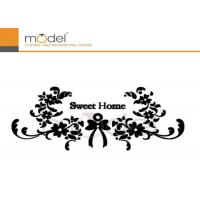 Buy cheap Modern Decorative Crystal Wall Stickers Art Black Flower Vinyl Decals from wholesalers