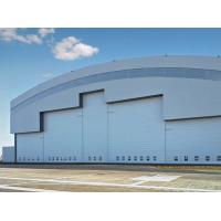 Buy cheap Prefab Curve Roofing System Steel Aircraft Hangars With Electrical Slide Doors from wholesalers