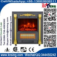 Mobile Fireplaces electric heater fire log electric stove SF-1424 flame effect room Heater Quartz tube infrared wheels Manufactures
