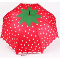 Buy cheap Brightly Colored Fruit Series Strawberry Straight Kids Umbrella from wholesalers