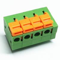 Buy cheap pcb spring screwless terminal blocks free hanging 2.54mm pitch right angel through hole type from wholesalers