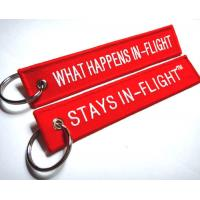 What Happens In-Flight Stays In-Flight TM Customized OEM Fabric Keychains Manufactures