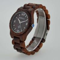 Eco Friendly Bewell Wooden Wrist Watch Waterproof With Customised Logo Manufactures