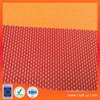 Buy cheap Textilene Outdoor mesh fabric2X1 weave in red strip Anti-UV fabric from wholesalers