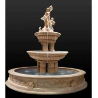 Buy cheap Hot Sale Outdoor Natural Stone Marble Water Fountain Price Statue from wholesalers