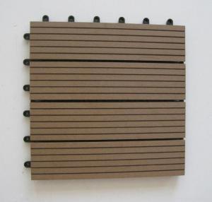 Outdoor Waterproof WPC Composite Decking Floorings Recycled for Park / Garden Manufactures