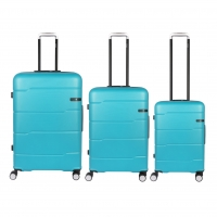 Buy cheap Light Blue Hardside Spinner Wheels Travel Luggage Sets from wholesalers