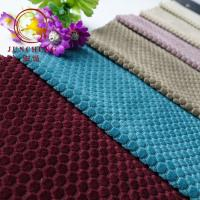 China Hot sell warp Knitting jacquard velvet fabric for sofa or home texile on sale