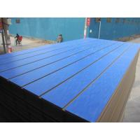 Buy cheap Decoration Water Resistant MDF Board Slot Melamine Faced Slotted from wholesalers