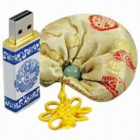 China Luxurious China Ceramic Encrypted USB Memory Stick Flash Drive with 256MB to 32GB Capacities on sale