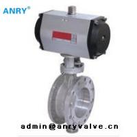 China Pneumatic Differential Pressure Control Valve SS304 SS316 Tri Eccentric Butterfly Valve on sale