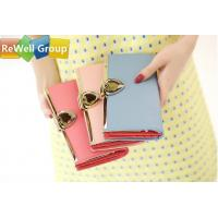 Buy cheap Ms Small Long Ladies Leather Purse Wallet , Womens Red Leather Wallet from wholesalers