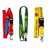 Wholesale Heat-transfer Lanyards, Available in Silkscreen/Offset Printings and 1 to 2.5cm Width from china suppliers