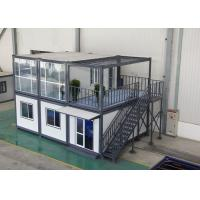 China Gray Residential Prefab Container House Comfortable 6000mm * 2438mm * 2891mm on sale