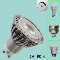 Wholesale GU10 2800k 3W 12 Volt MR16 LED Lamp With 60° Beam , 140lm LED Spot Light from china suppliers
