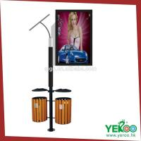 Outdoor Advertising Solar Dustbin Lamp Post Light Box Manufactures