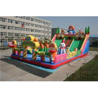 inflatable obstacle double slide,inflatable slide sport,amazing funny giant inflatable zip line slides Manufactures