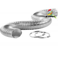 Buy cheap Fireproof Exhaust System Semi Rigid Aluminum Duct 4'' Round Extendable from wholesalers