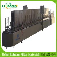 China PLBL-60 station automatic U type rotary oven production line PU air filter machine on sale