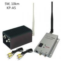 High Integrated CCTV Wireless Video Transmitter With 5000mW Output Power , AV Interface Manufactures