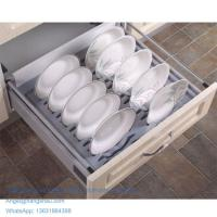 Buy cheap 600mm DIY kitchen plate tray soft closing cabinet dish rack from wholesalers
