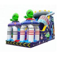 Wholesale 0.55PVC inflatable dry slid 4×8Meter Alien inflatable slide from china suppliers