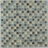 Buy cheap Glass Mixed Marble Stone Mosaic Tile from wholesalers