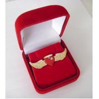 Buy cheap angel wing pin badge with diamond,lapel pin,button badge,holiday gift,popular decoration from wholesalers
