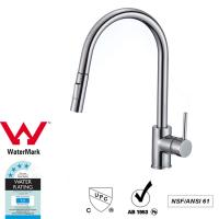China Cupc Lead Free Brass Sink Pull out Mixer Tap 360 Swivel No Corrosion on sale