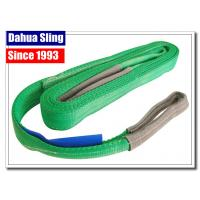 China 2000kg Working Load Polyester Endless Round Slings , Cargo Lifting Straps Green on sale