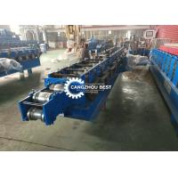 China Steel Roller Shutter Door Roll Forming Machine Security Door Machine With Holes on sale