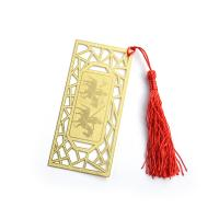 Buy cheap Delicate Promotional Metal Bookmarks / Gold Plated Bookmarks 110*50mm from wholesalers