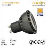 Buy cheap new design 6w 480lm gu10 spotlight ra80 warm white cool white led gu10 lamp from wholesalers