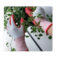 Buy cheap 13 Gauge White Polyester Knit Women Gardening Rubber Coated Work Gloves from wholesalers